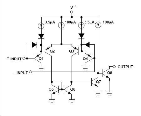 集成运放与比较器的电路结构区别