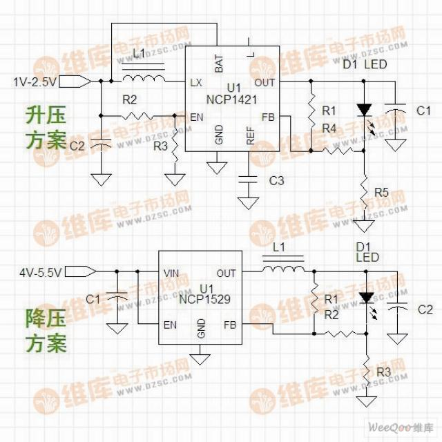 led电路电路图:led手电筒驱动电路