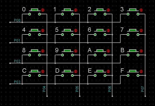 4×4 矩阵式键盘电路的改进