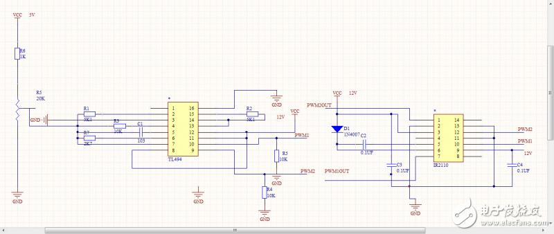 pwm控制部分 - 电路原理图 - 中国电子技术论坛 - 最