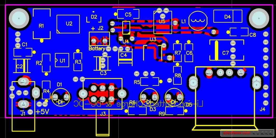 移动电源电路图和pcb原理图分享
