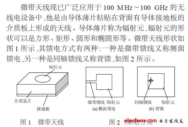 微带天线的设计和阻抗匹配的仿真设计