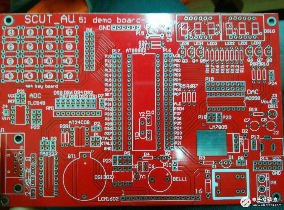 求51单片机开发板的电路图