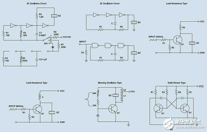 用三极管的压电蜂鸣器电路
