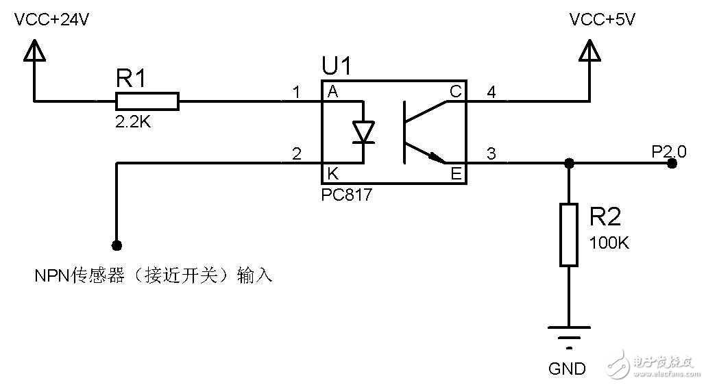 这个电路中,在面包板测试的时候,p2.