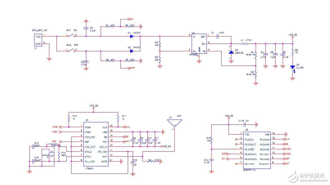 开源lt8900遥控器收发项目 - 天线|rf射频|微波|雷达