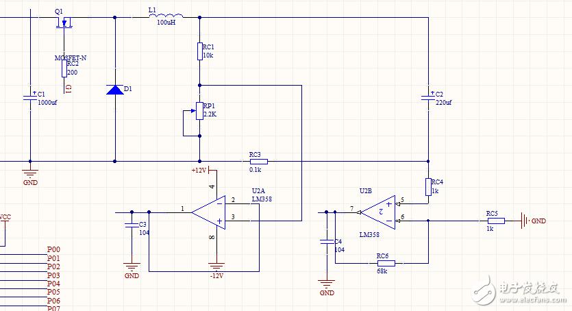 输入直流12v,输出电压0-11v,最大电流1a ,mos管使用irf540n可以吗,该