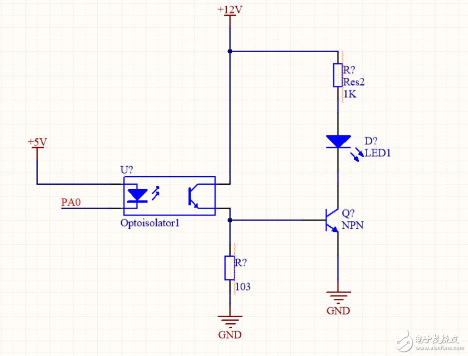 光耦 三极管控制电路问题