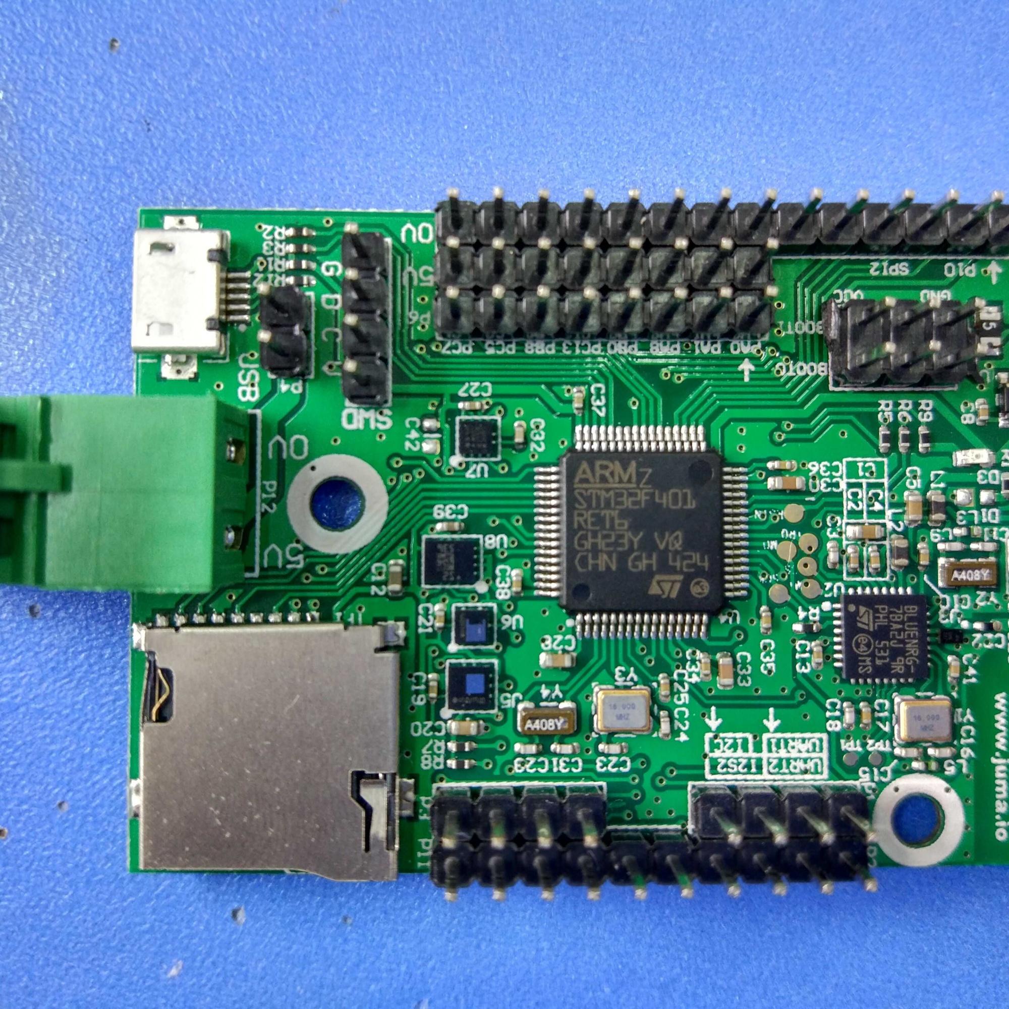 接口: microusb stm32f401的片上外设基本都引出来了的 tf卡(microsd)