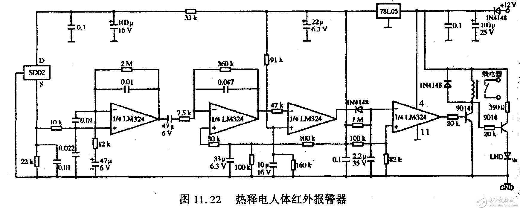 热释电人体红外报警器 - 电路设计论坛 - 中国电子