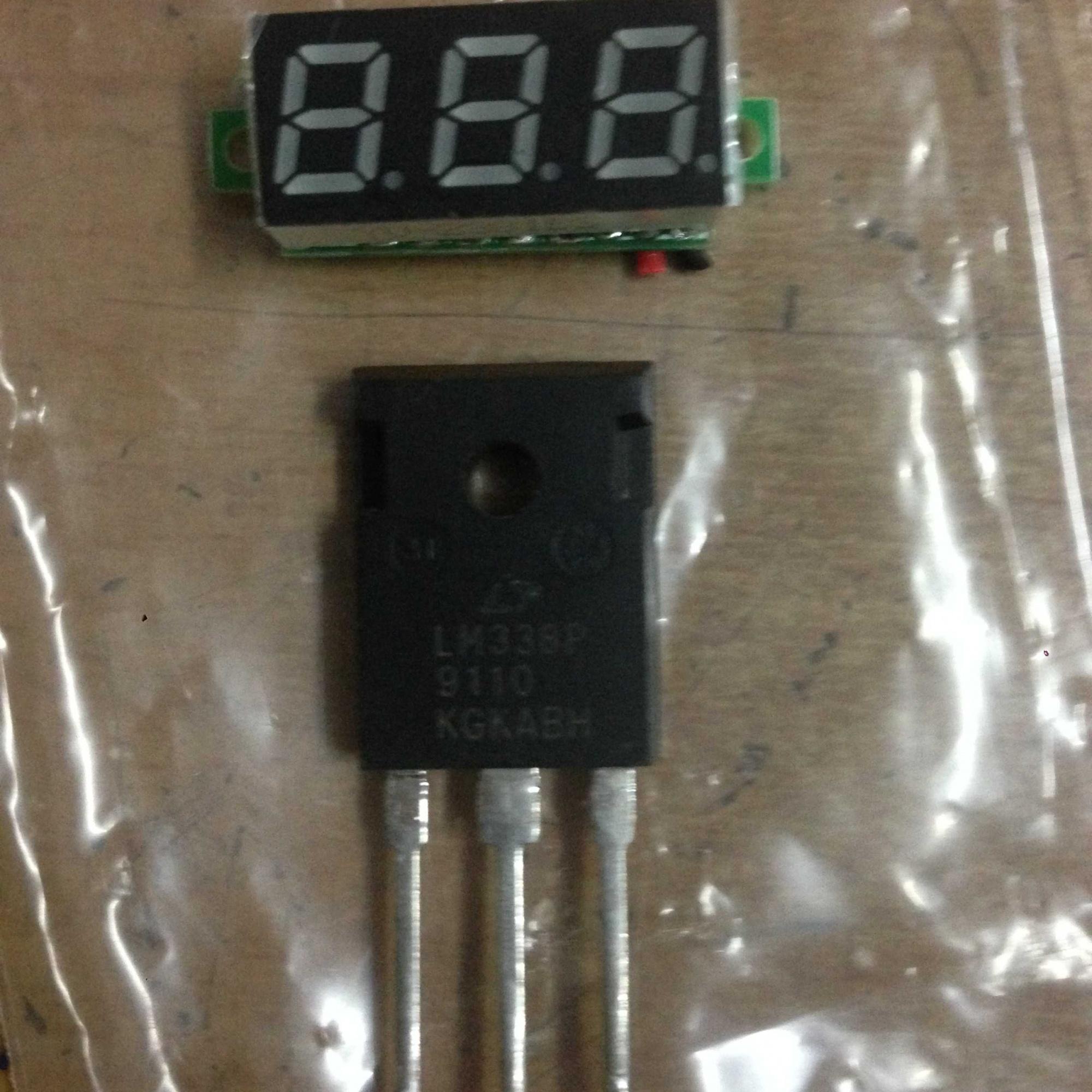 塑封lm338p 制作最大5a 1.25~15v可调电源