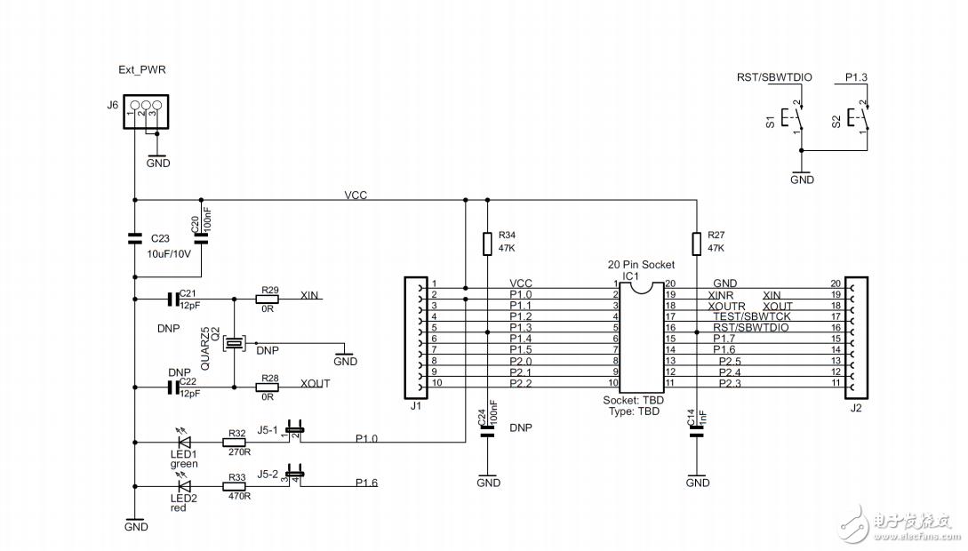 想外加发光二极管和按键 然后加程序进行试验 想问问二极管和按键应