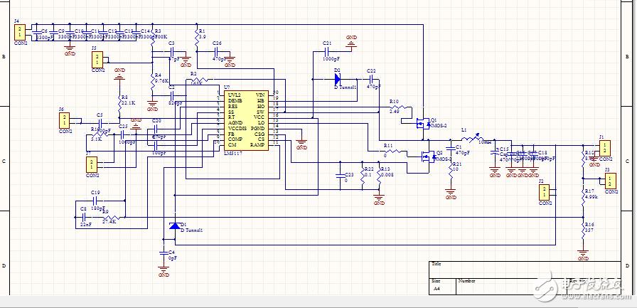 而且一外接负载输出电压都会被拉低,外接10毫欧的功率电阻,电流只有0.