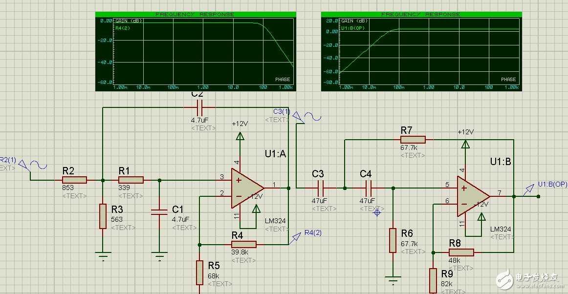 滤波器波形异常 - 电路设计论坛 - 中国电子技术论坛