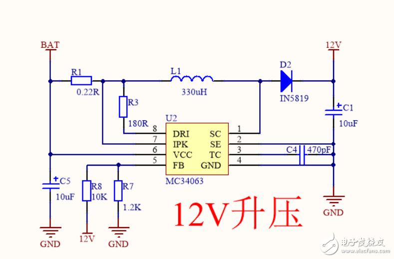 我单独焊上mc34063模块的时候供电,可以正常升压,然后把其他的电路焊