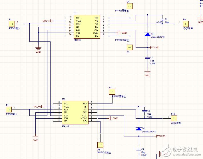 ir2110驱动全桥电路,ho输出电平一直和vs一样,并且输出的不是方波,但